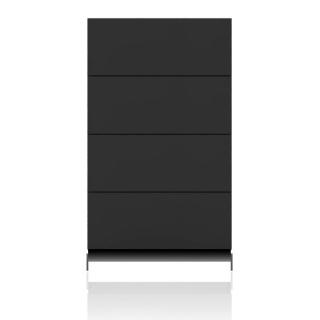 BRIX Kommode S4.K, mit 4 Schubladen, hochglanz lackiert dunkelgrau