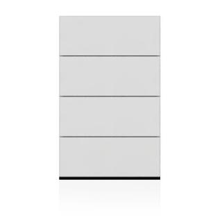BRIX Kommode S4.B, mit 4 Schubladen, hochglanz lackiert weiß