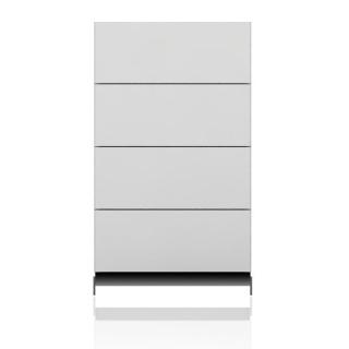 BRIX Kommode S4.K, mit 4 Schubladen, hochglanz lackiert weiß