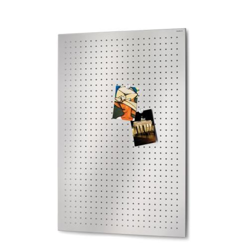 Muro Magnettafel gelocht 90 x 60 cm, Edelstahl gelocht