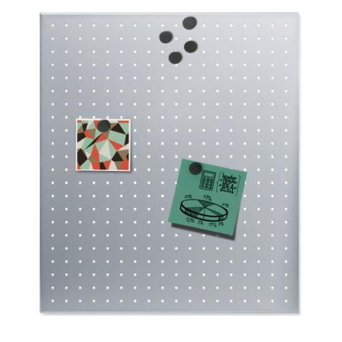 MURO Magnettafel gelocht 60 x 50 cm, Edelstahl gelocht