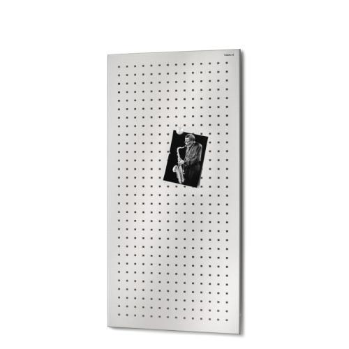 MURO Magnettafel gelocht 80 x 40 cm, Edelstahl gelocht