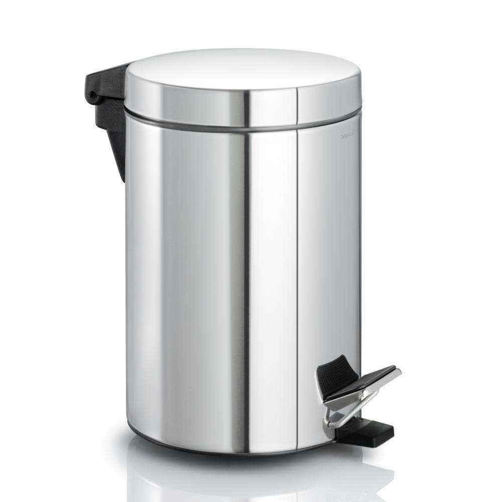 NEXIO Treteimer 2.5 Liter, Edelstahl poliert