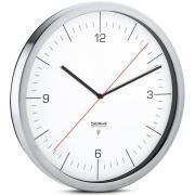 CRONO Funkuhr Ø 30,5 cm, Edelstahl, Ziffernblatt weiß