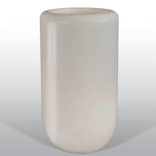Bloom Pill beleuchtete Vase 107 cm hellgrau