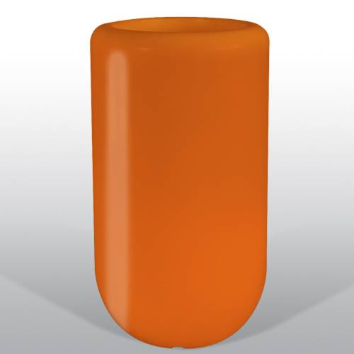 Bloom Pill beleuchtete Vase 70 cm orange