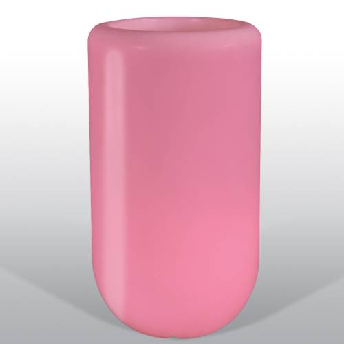 Bloom Pill beleuchtete Vase 70 cm rose