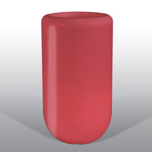 Bloom Pill beleuchtete Vase 107 cm rot