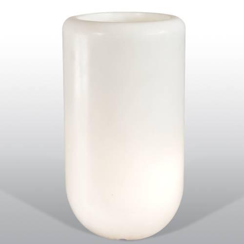 Bloom Pill beleuchtete Vase 90 cm weiß