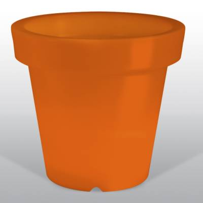 Bloom POT 40 beleuchteter Blumentopf orange