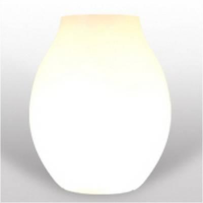 BULB leuchtende Vase von BLOOM / Höhe 70 cm weiß
