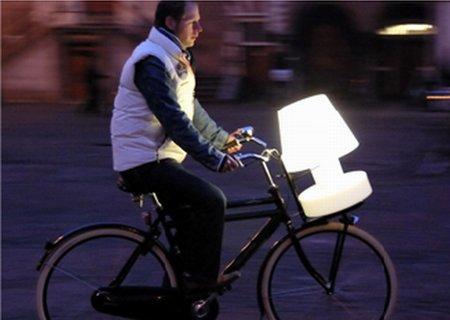 Bloom! Portable Lamp mit Batterie - Auf dem Rad :-)
