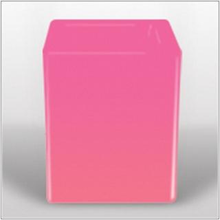 SQUARE Blumensäule 50 beleuchtet pink