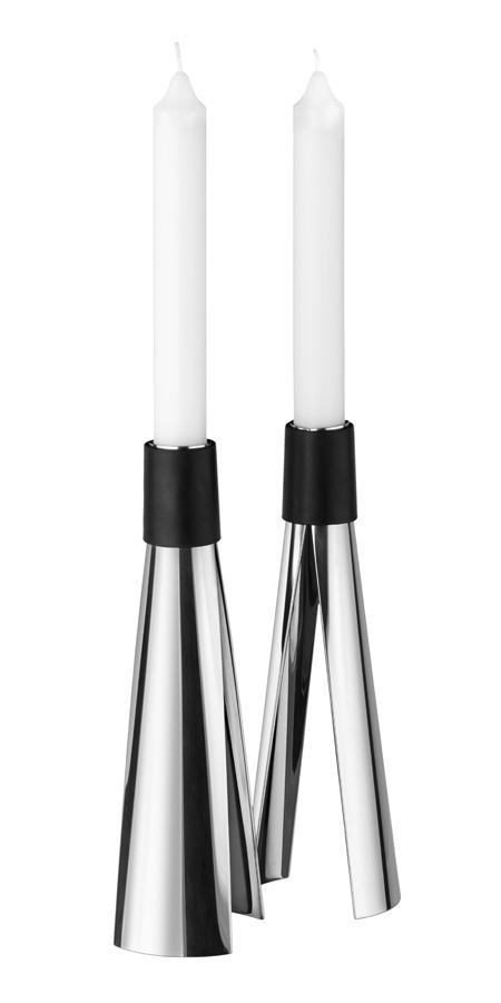 DELFT Kerzenständer Edelstahl poliert, 2 Stück