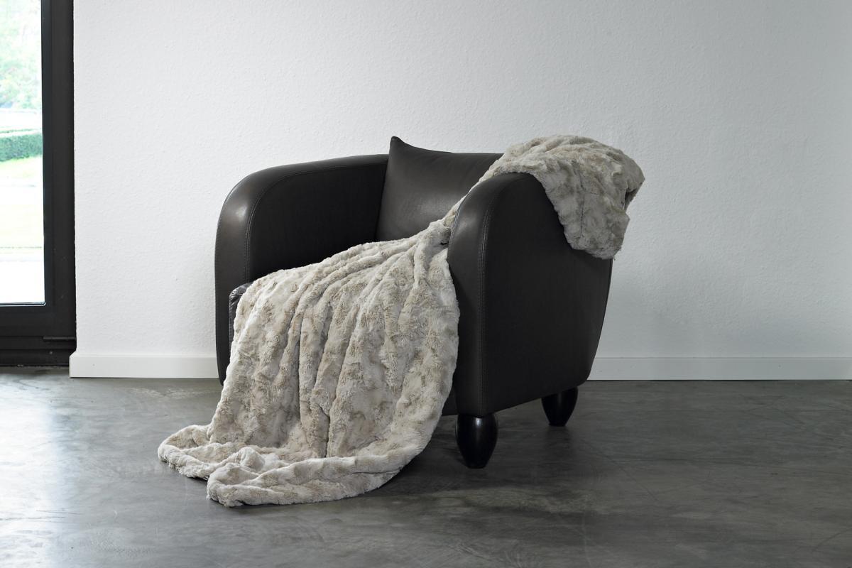 CARMA Plaid Lamm kitt 140x180 cm