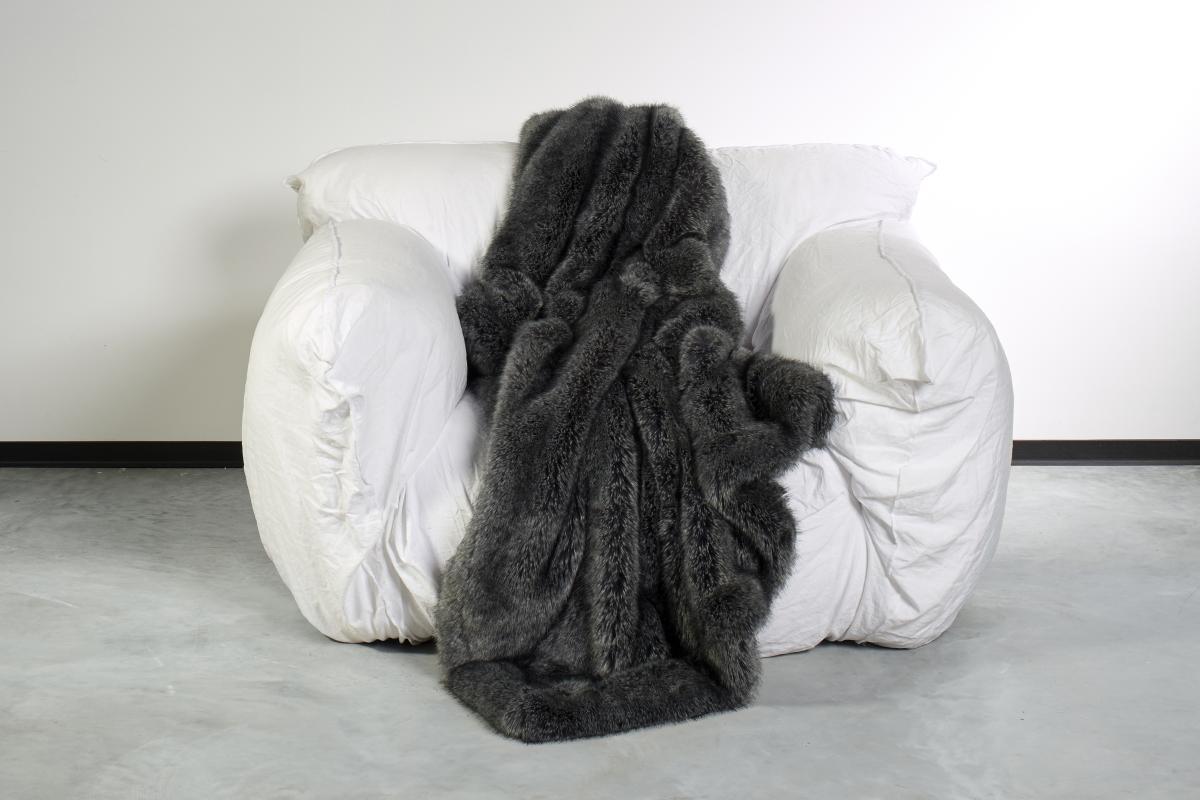 CARMA Plaid Fuchs grey 140x180 cm