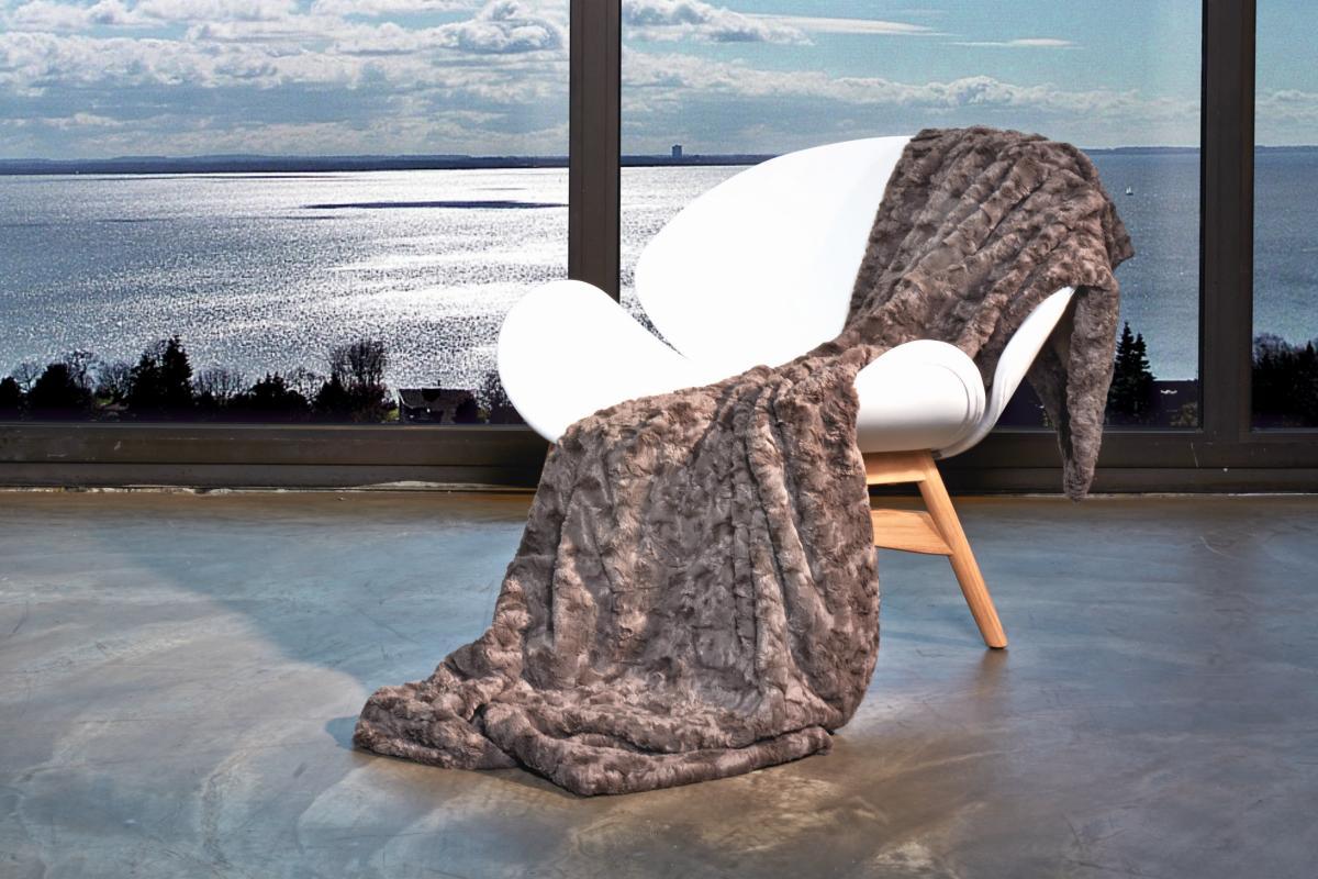 CARMA Plaid Lamm mocca 140x180 cm