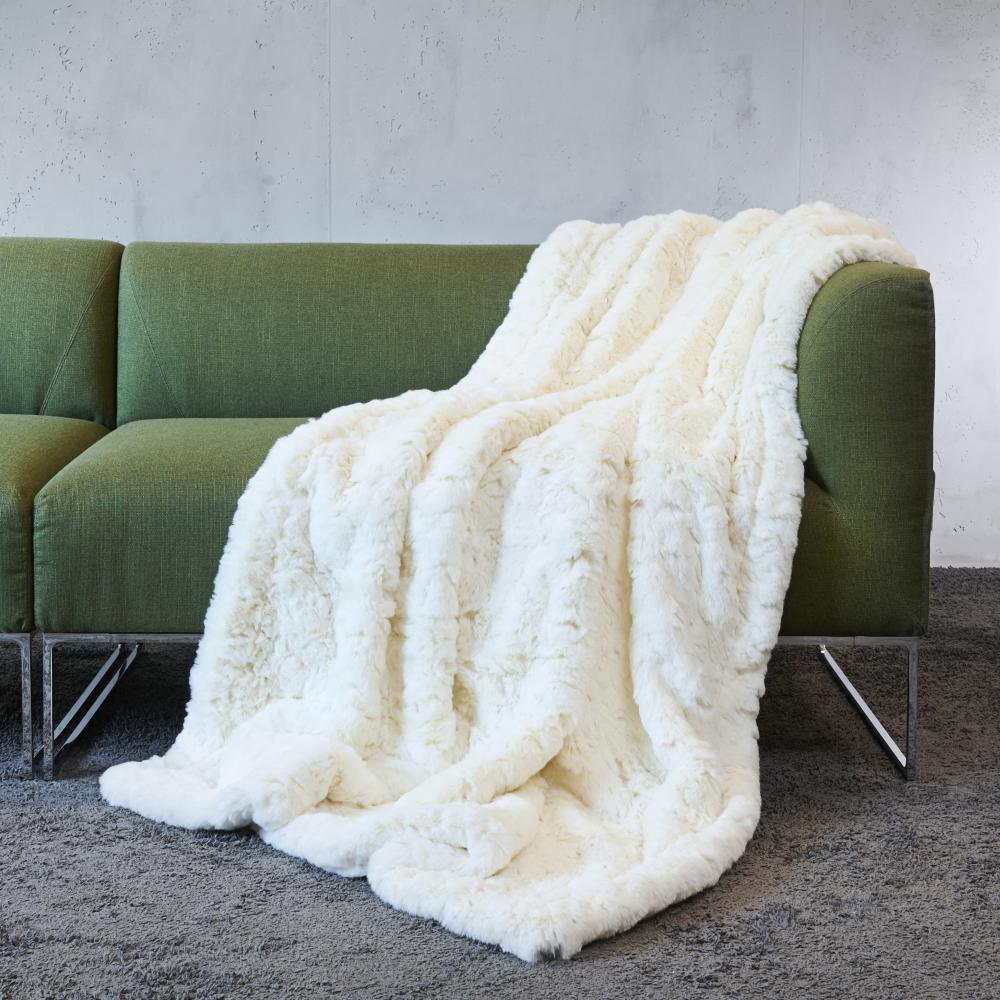 CARMA Plaid Awassi white 140x180 cm