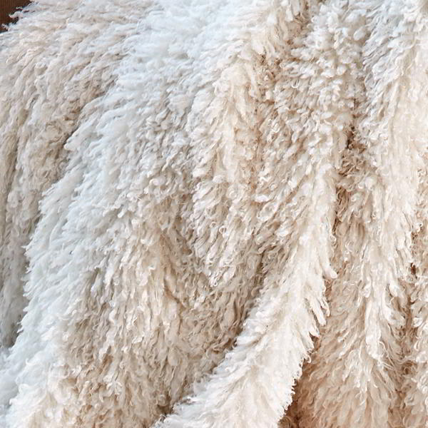 CARMA Plaid Tibetlamm ivory 140x180 cm