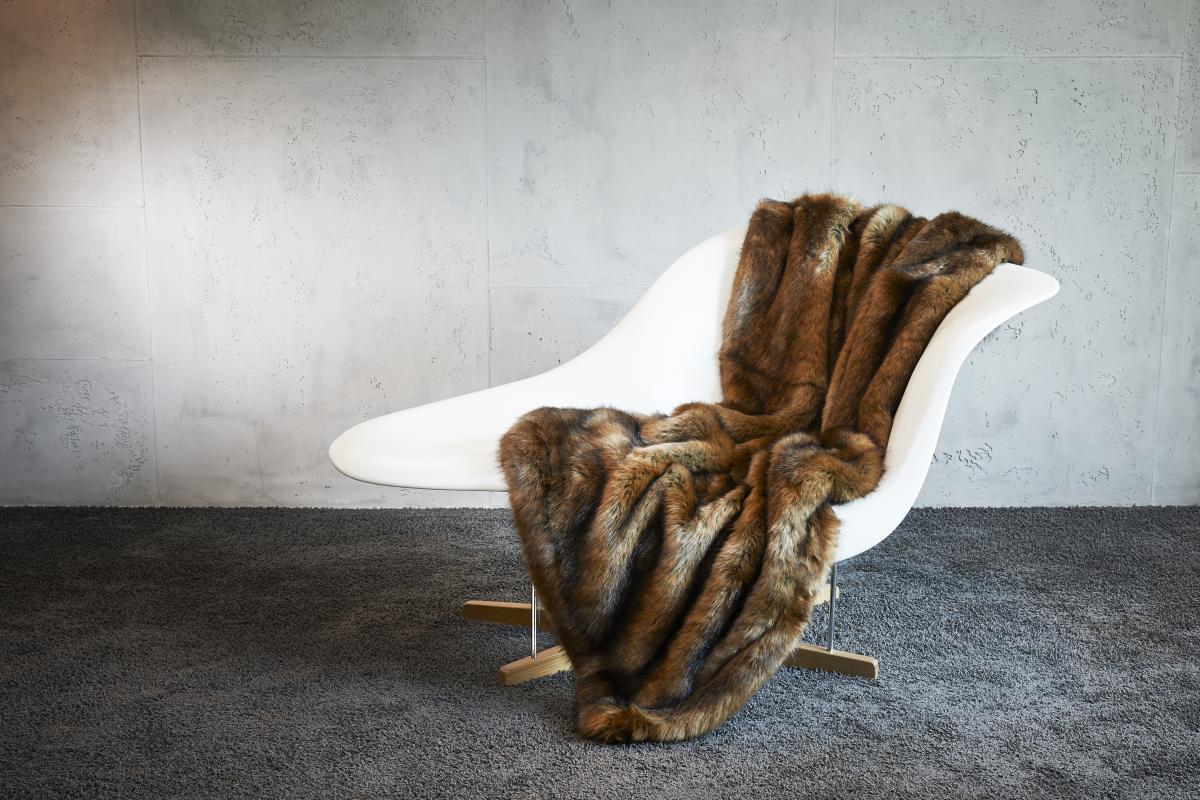 CARMA Plaid Fuchs brown 140x180 cm