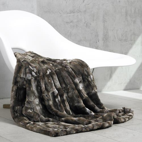 carma plaids marder dark webpelz decke von. Black Bedroom Furniture Sets. Home Design Ideas