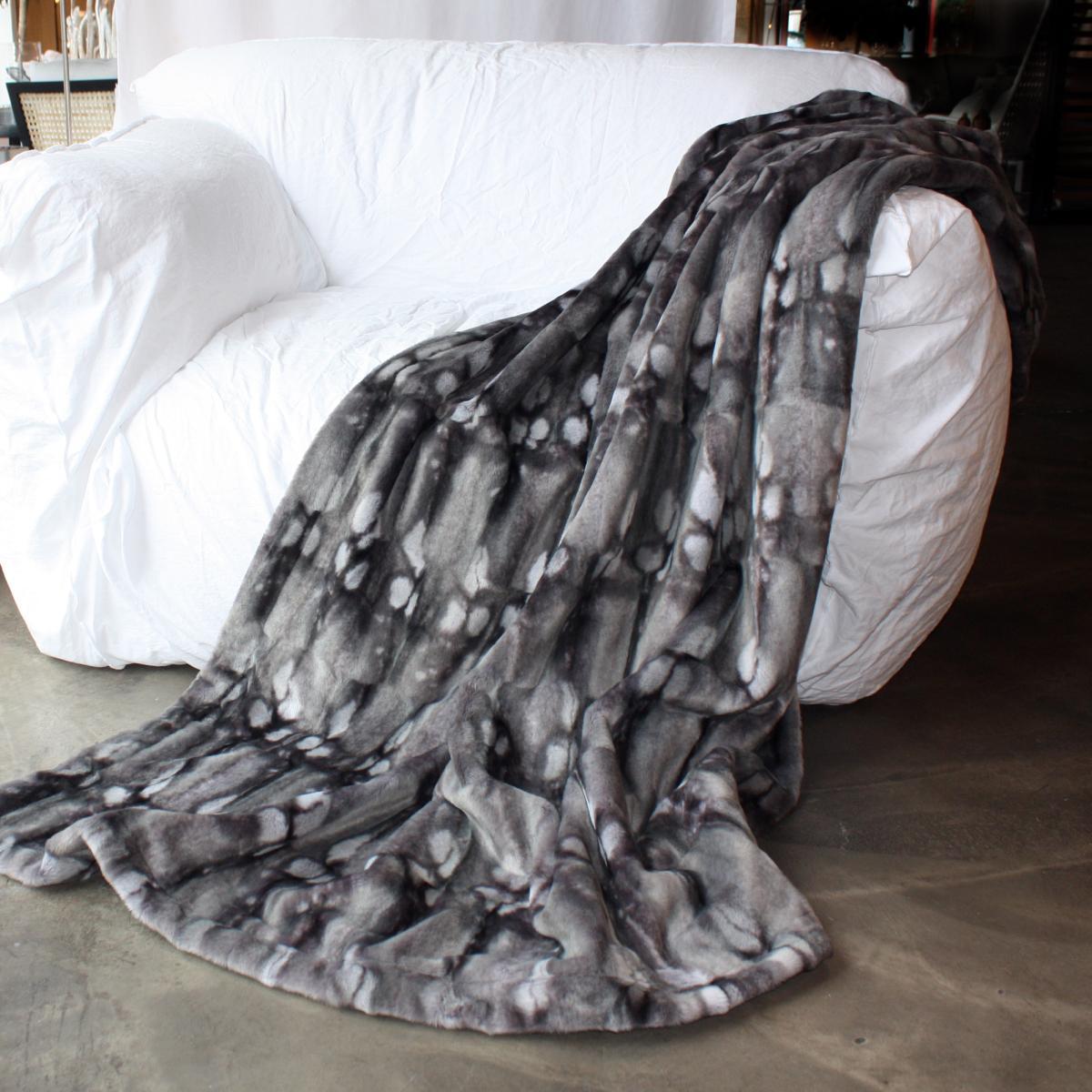 CARMA Plaid Ferret grey 140x180 cm