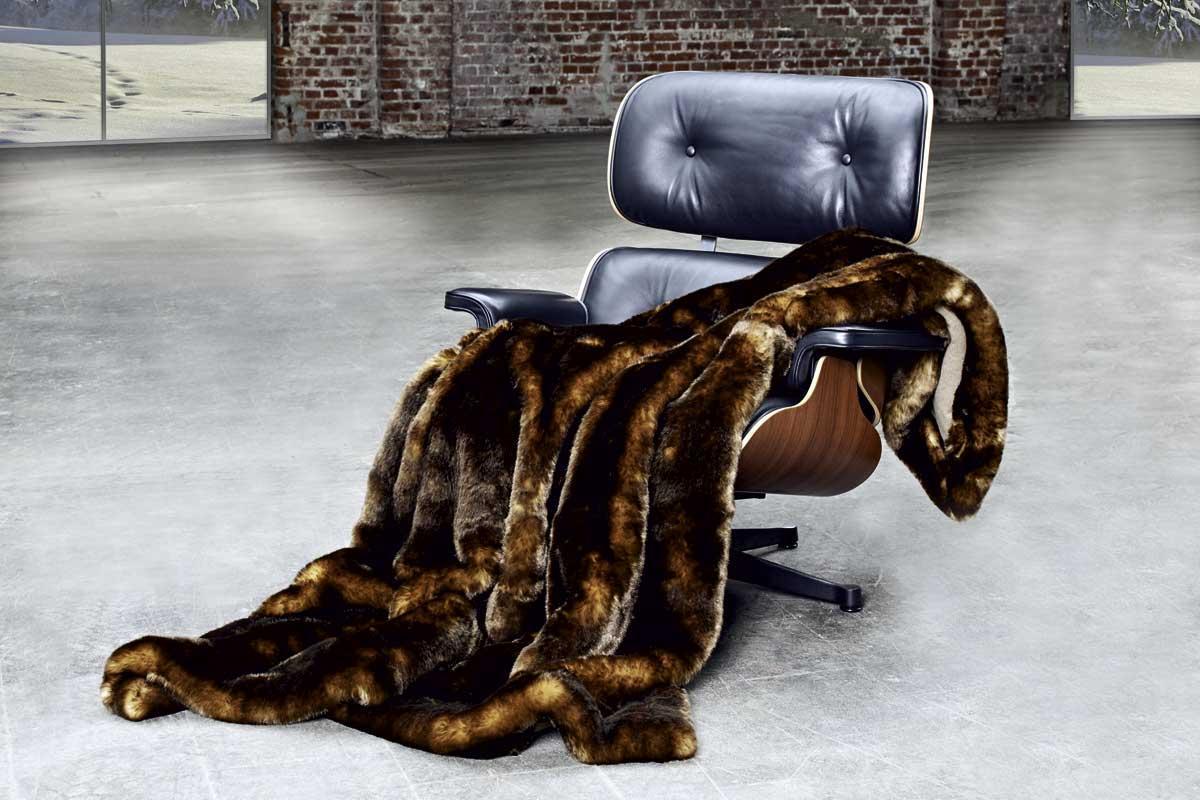 CARMA Plaid Puma amber 140x180 cm