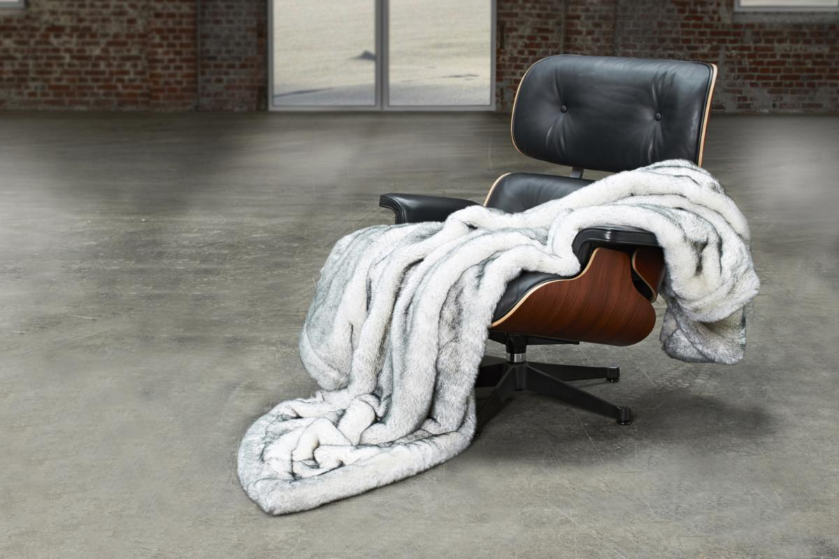 CARMA Plaid Husky grey 140x180 cm