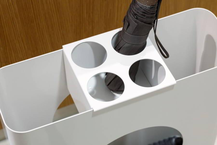 Taschenschirmaufsatz für FLOW 1 Schirmständer, weiß
