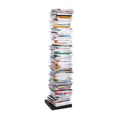 PTOLOMEO Büchersäule freistehend 72 cm schwarz/Fuß schwarz