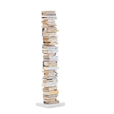 PTOLOMEO Büchersäule freistehend 160 cm weiß/Fuß weiß