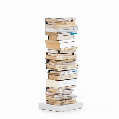 PTOLOMEO Büchersäule freistehend 72 cm weiß/Fuß weiß