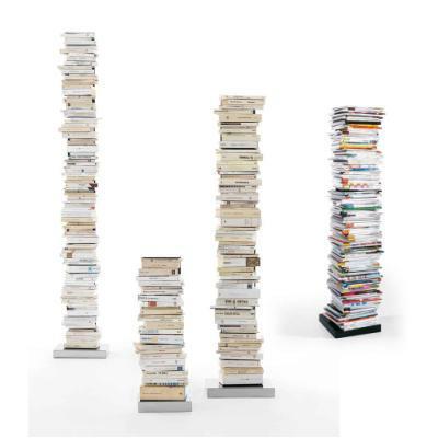 PTOLOMEO Büchersäule freistehend 72 cm kpl. Edelstahl/Fuß Edelstahl
