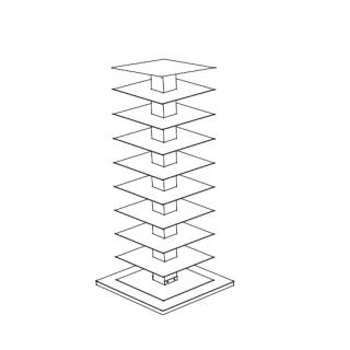 PTOLOMEO X4 Bücherregal 110 cm