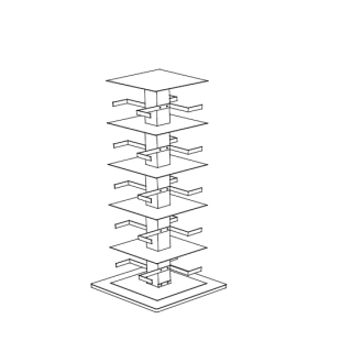 PTOLOMEO X4 B Bücherregal 110 cm