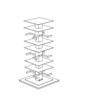 PTOLOMEO X4 C Bücherregal 110 cm