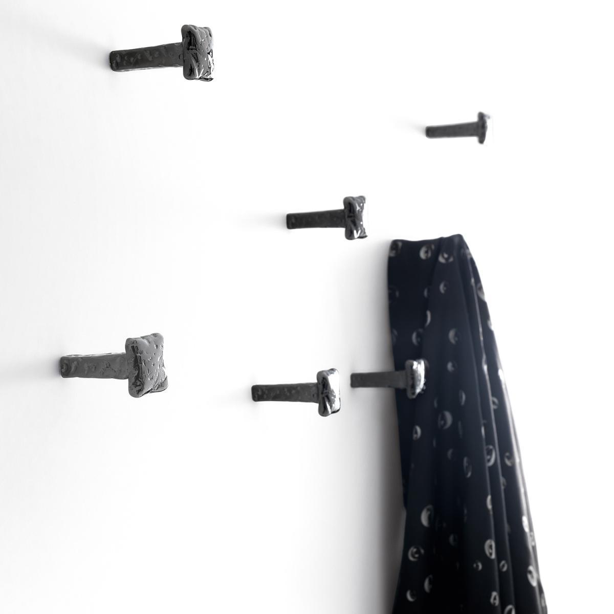 Chiodo Haken Nickel schwarz poliert, 4er Set