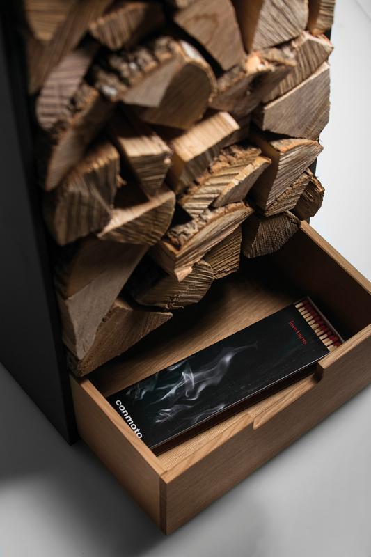 COVO Brennholz Regal mit Schublade
