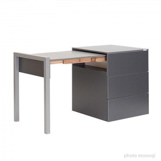ALWIN ausziehbarer Tisch anthrazit, Tischplatte Orfeo