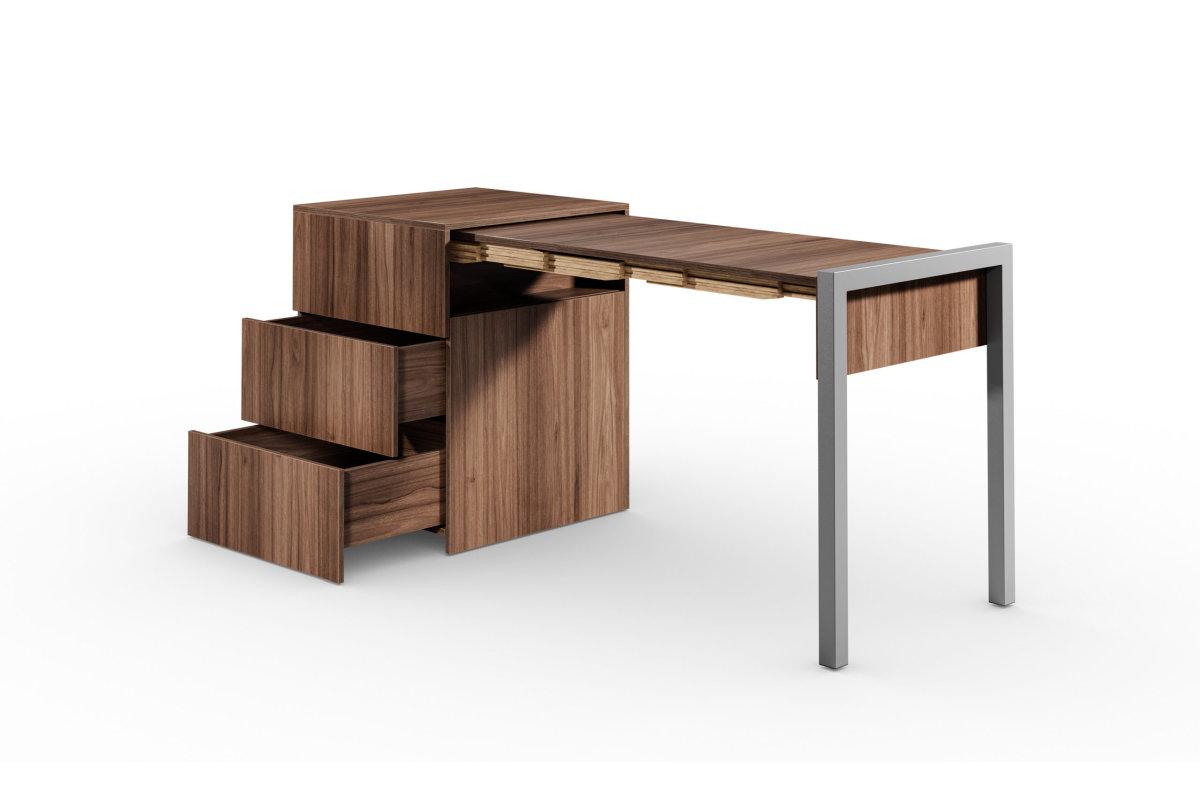 ALWIN ausziehbarer Tisch Nussbaum