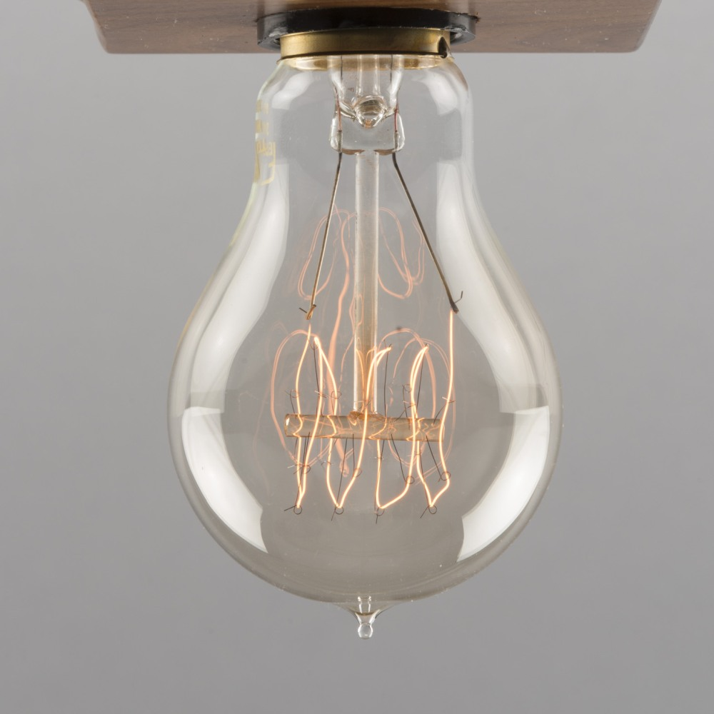 VIVENDI Leuchtmittel F.1920 Kohlefaden-Optik Ferrowatt 60 Watt, dimmbar