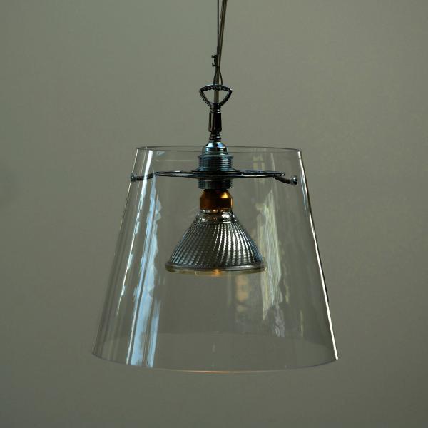 GIGANT Pendelleuchte 1 Glaszylinder Klarglas