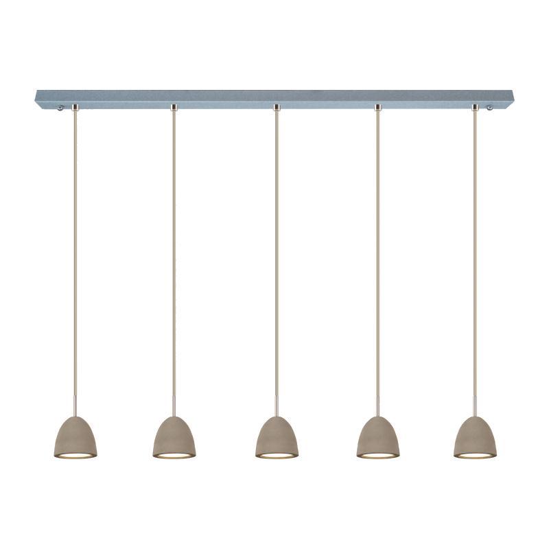 Cemento S Pendelleuchte 5 Schirme, beton grau
