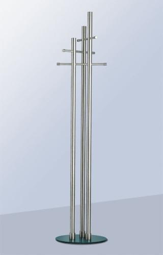 NEW BISTRO Standgarderobe Edelstahl/Fuß Stahl anthrazit