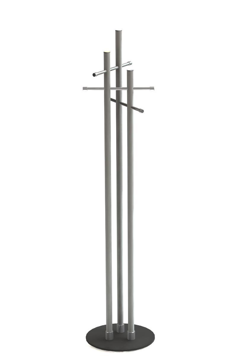 NEW BISTRO Standgarderobe Edelstahl / Fuß Stahl anthrazit