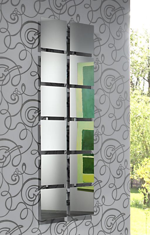 4 Stück BAIKAL 3 verstellbare Spiegel, Gestell Aluminium poliert
