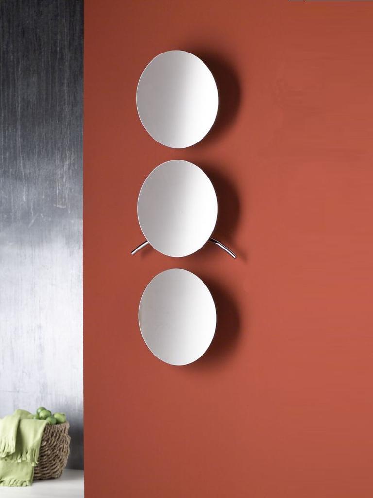 SKYLAB 2 Spiegelgarderobe rund, 3 Stück untereinander