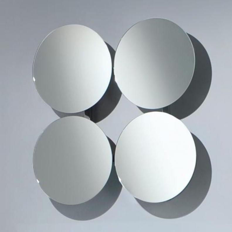 SOLAR 4 Wandspiegel verchromt mit 4 verstellbaren Spiegeln