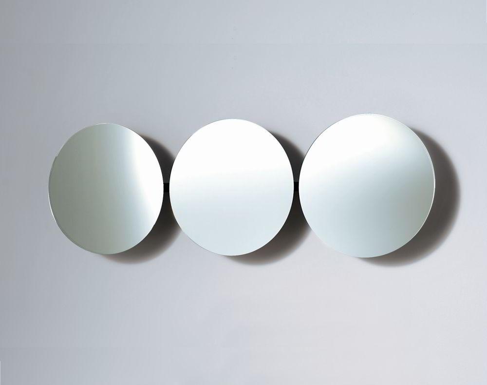 SOLAR 3 Wandspiegel verchromt mit 3 verstellbaren Spiegeln