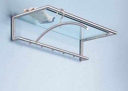 SHERPA 1 Wandgarderobe, Ablage Glas klar